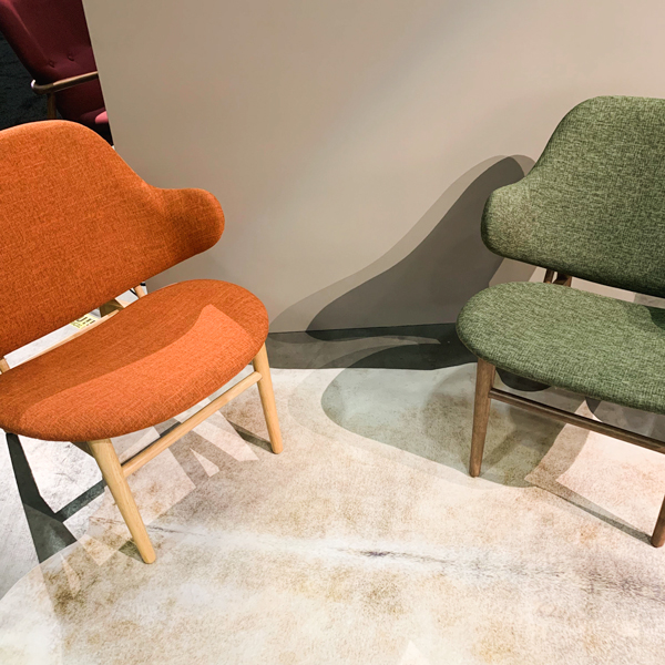 upholstered Scandi style chairs at J & M Home
