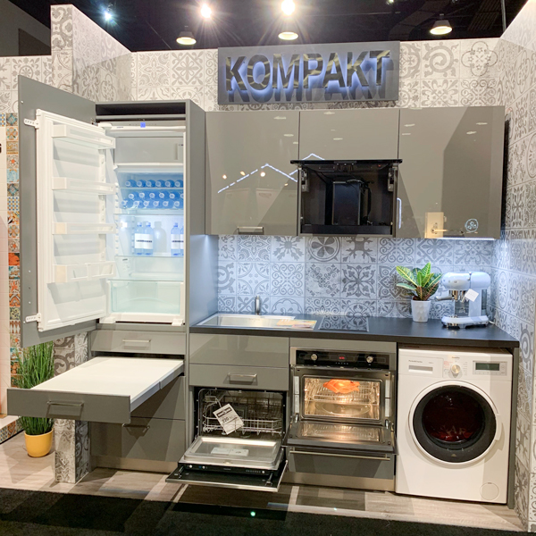 Kompact kitchen by Bauformat showing hidden features