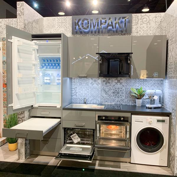 Kompact kitchen by Bauformat showing hidden features