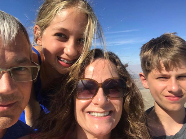 Ksenia with family