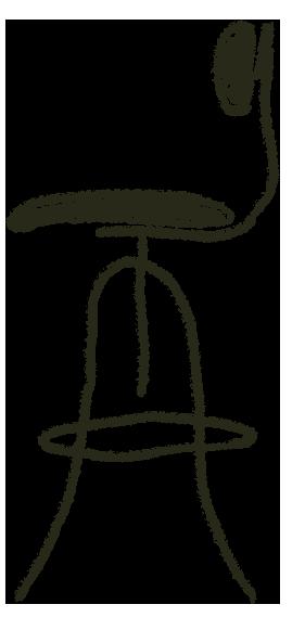 diagram of adjustable stool