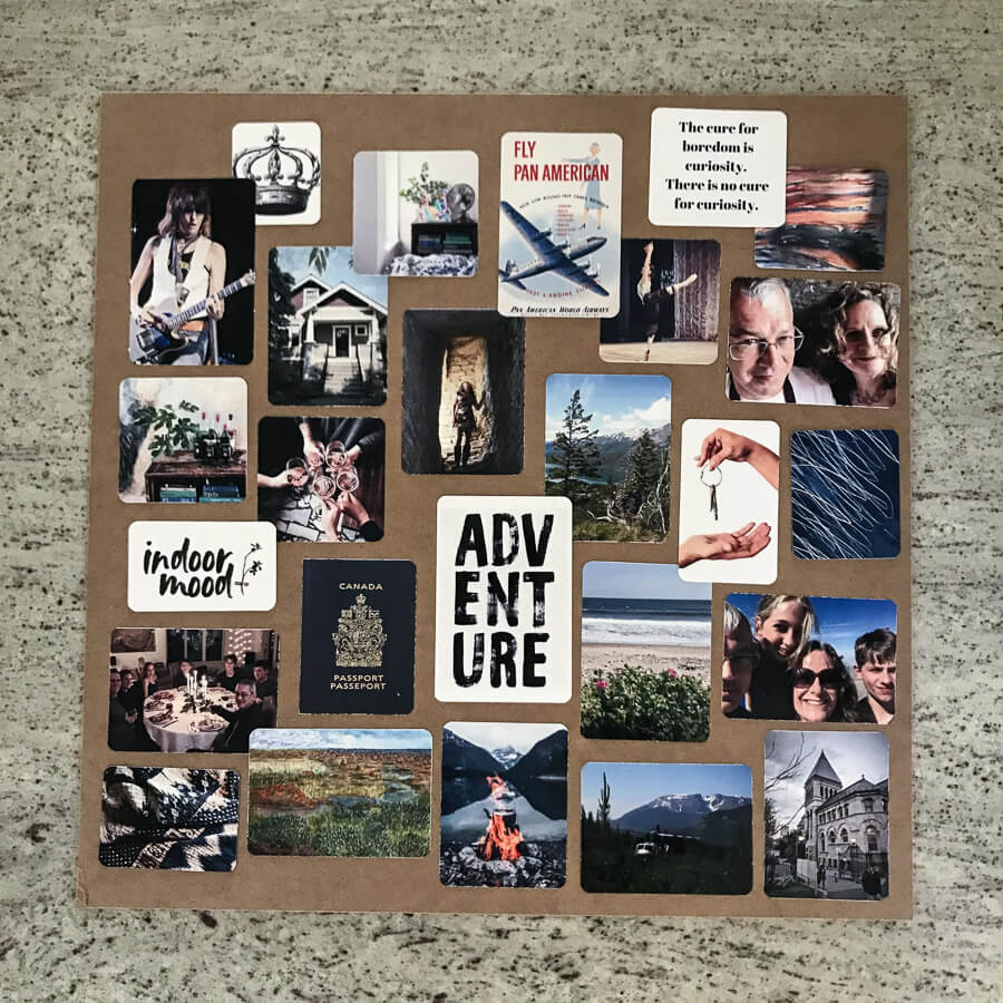 KonMari ideal lifestyle vision board