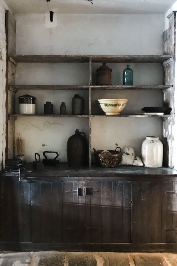 historical scullery kitchen organization